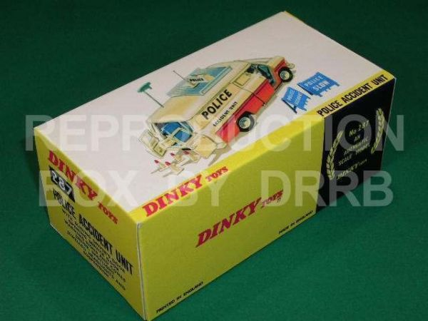 Dinky #287 Police Accident Unit Transit - Reproduction Box ( Transit model 1st casting )